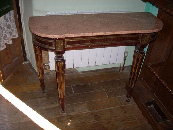 Mesa de madera con patas torneadas y fiadores de forja perfecto car interior design - Patas de forja para mesas ...